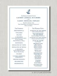 printed programs anchor s away wedding program set of 50 printed programs by