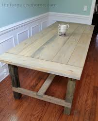 How To Build End Table Plans by Diy Farmhouse Table For Less Than 100 The Turquoise Home