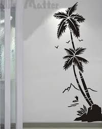 hall tree promotion shop for promotional hall tree on aliexpress com beach coconut trees waterproof vinyl decal stickers hall bathroom glass modern art mural decorative stickers free shipping
