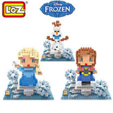 loz diamond blocks loz diamond block frozen elsa olaf 3pc set building nano