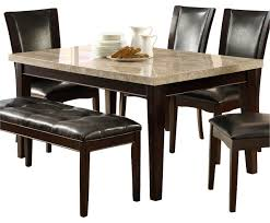 homelegance hahn marble top dining table in espresso traditional
