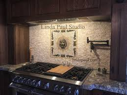 kitchen medallion backsplash kitchen backsplash medallion mewtal and mosaic tile