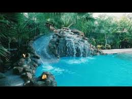 pools with waterfalls inground pools with waterfalls youtube