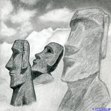 easter island drawings u2013 happy easter 2017