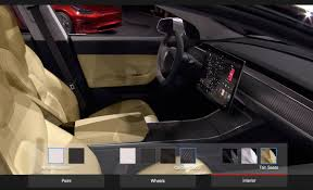 tesla model 3 interior seating tesla fan creates an unofficial model 3 design studio configurator