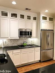 kitchen cabinet painting ideas 120 painted cabinet makeover using sherwin williams white duck