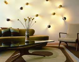 Home Design Chic Eclectic Living Room With Unique Wall Lighting As