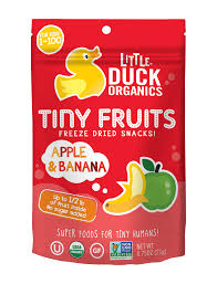 tiny banana apple u0026 banana tiny fruits 6 pack u2014 little duck organics