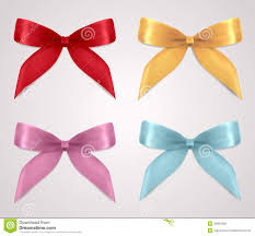Invitation Cards Design With Ribbons Set Of Gift Bows Ribbons Present Symbol Stock Photo Image