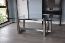 steel top dining table stainless steel top dining table is also a kind of rectangular glass