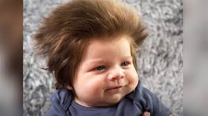 baby hair meet the 9 week baby who s going viral for his of