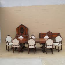 Walnut Dining Room Chairs American Antique Walnut Dining Room Set Antique Furniture Ideas