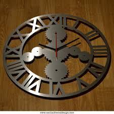 horloge murale style industrielle inox brossà dà corations