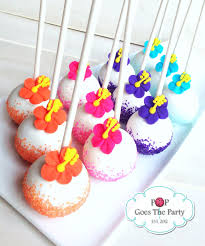 themed cake pops hawaiian themed cake pops pinteres