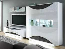 Wohnzimmer Modern Weiss Wohnwand Modern Weiß Hochglanz Stumm Geschaltet Auf Wohnzimmer