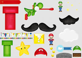 super mario bros free printable scrapbook kit fiesta