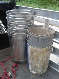 decorating nice and simple outdoor trash container with metal