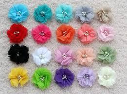 tulle flowers tulle flowers folded tulle flower beaded flower wholesale mesh
