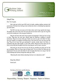 primary sends all pupils this amazing letter before exams