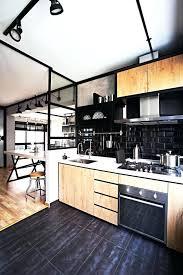 cuisine sol noir carrelage metro noir cuisine la cuisine la credence cuisine