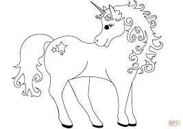 Lovely Unicorn Coloring Page Free Printable Coloring Pages Unicorn Coloring