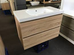 Narrow Bathroom Vanity by Astra Slimline 900mm White Oak Timber Wood Grain Narrow Bathroom
