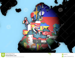 World Map With Flags Europe World Map With Flags Stock Illustration Image 34887870