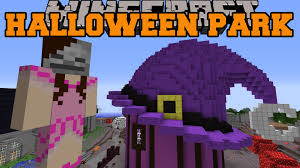 Minecraft Halloween Park Witch U0027s House Ghost Train U0026 Mask Shop