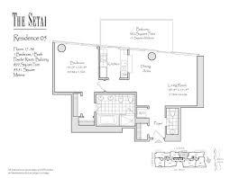 1237 West Floor Plan by Setai South Beach Floor Plans