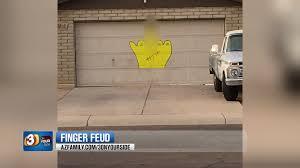Garage Door Murals For Sale Peoria Homeowner Paints U0027middle Finger U0027 On House Neighbors Outr
