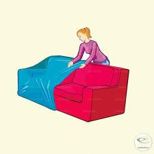 housse plastique canapé housse de canapé en plastique 250x110x110 cm