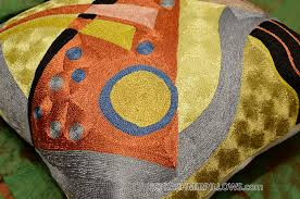 Cushion Covers For Sofa Pillows by Kandinsky Pillow Cover Silk Composition Vii Hand Embroidered 18 U2033 X