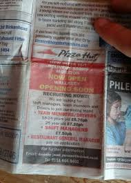 pizza hut job advert nothing but a load of dough balls as workers