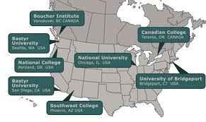 Chicago Colleges Map by Accredited Naturopathic Schools Of North America