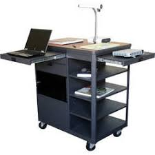 multimedia cart with locking cabinet presentation carts b h photo video