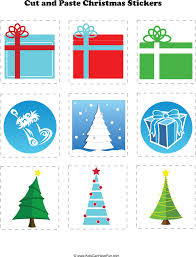 christmas cut and paste holiday worksheet activities