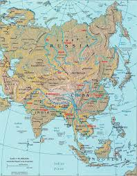 worlds rivers map rivers in asia