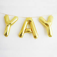 letter balloons balloon letters 16 gold hanging balloons letters air fill