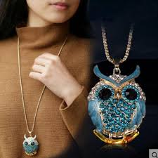 owl necklace pendants images Owl necklace vintage crystal cubic zircona owl pendant jewelry diary jpg