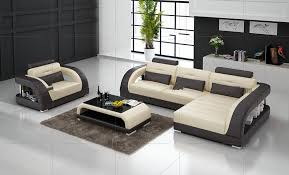 Sofa Modern L Shaped Sofa Inside Modern Sectional Leather For