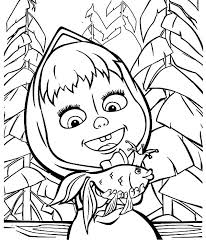 masha and the bear talking to magic fish coloring pages color luna