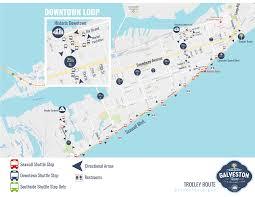 map of galveston trolley information galveston tx official website