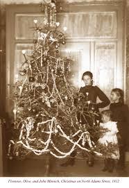 1912 minnich children w christmas tree historyonthefox