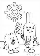 wow wow wubbzy coloring pages coloring book