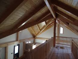 post and beam home interior finishes