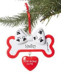 treasured ornaments dog gone cute bone personalized ornament zulily
