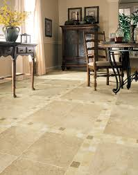 chic idea for dining room with classic stone flooring listed in