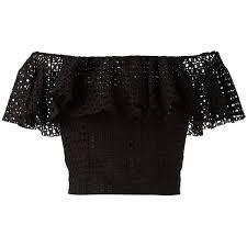 the shoulder black blouse 5915 best polyvore images on tiered dress dress lace