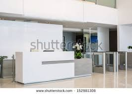 Modern Office Reception Desk Office Reception Desk Front Stock Images Royalty Free Images