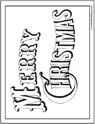 merry christmas coloring pages